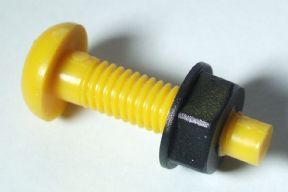 Plastic Bolts Numberplate Bolt Yellow